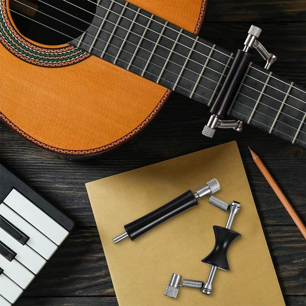 Chitarra Elettrica Capo Cambio Rapido Acciaio Inossidabile Scorrevole Regolabile Guitar Rolling Capo per Chitarra Acustica a 6 Corde 2 Pezzi Capo per Chitarra Acustica Guitar Capo