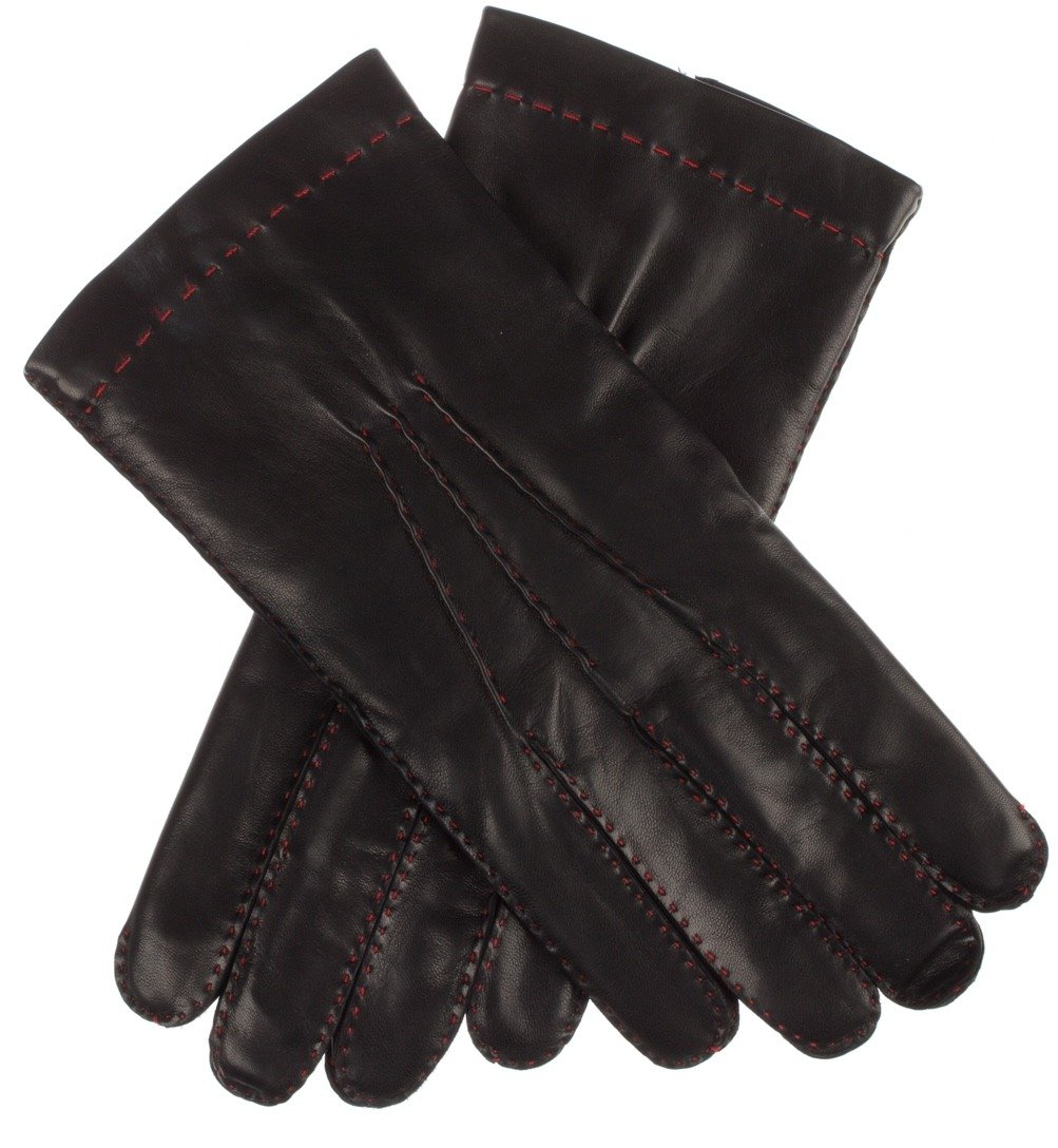 Lundorf Alfio Mens Black Leather Gloves Fine Wool Lining Classic Design – Size 11