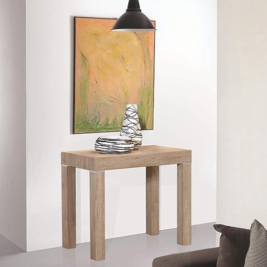 Arredinitaly -Mesa plegable 90 x 50 a 90 x 300 cm (12 orificios ...