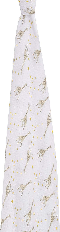 aden by aden anais Une Couverture dEmmaillotage en 100/% Mousseline de Coton Starry Star Girafes 112 cm x 112 cm