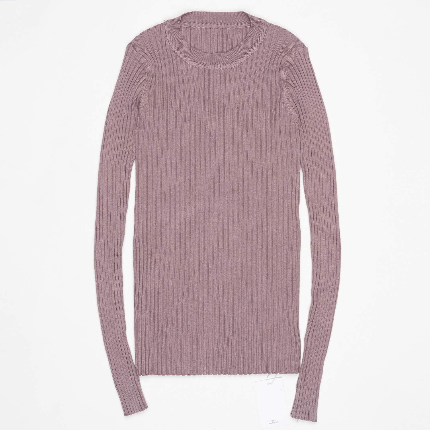 double-june Women Sweater Basic Cotton Tops Solid Essential Long Sleeve Thumb Hole