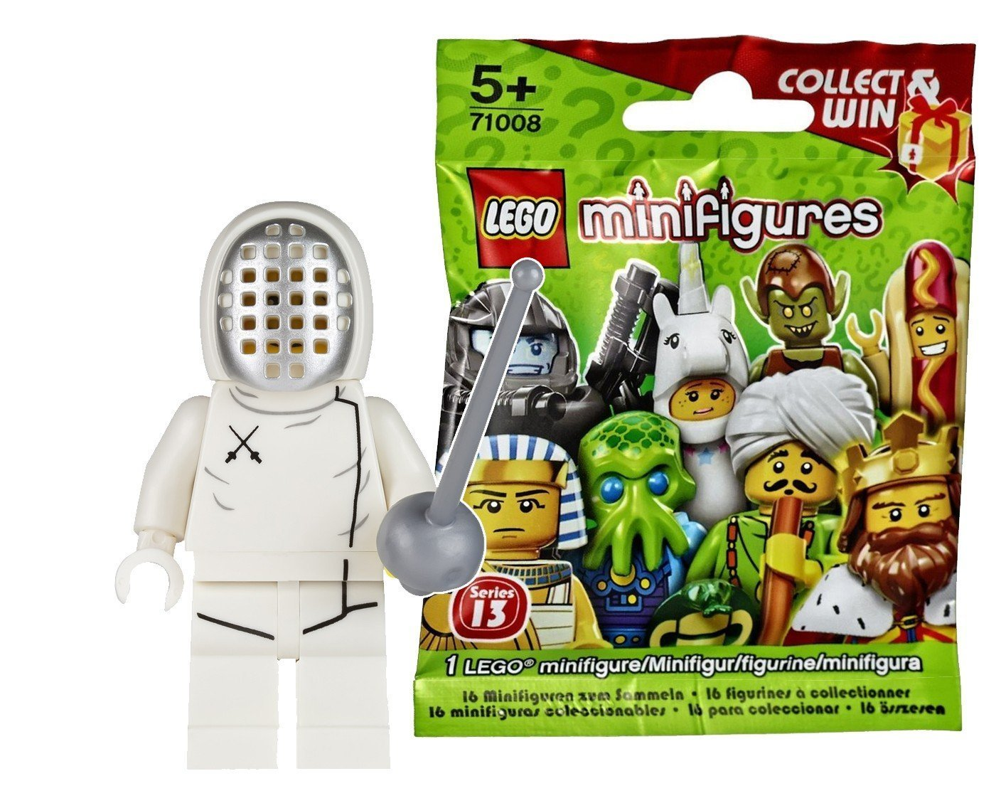 series 13 NEW Collectible   71008 Fencer Lego Minifigure