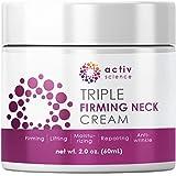 ACTIVSCIENCE Neck Firming Cream, Anti Aging Moisturizer for Neck & Décolleté, Double Chin Reducer, Skin Tightening Cream 2 fl oz.
