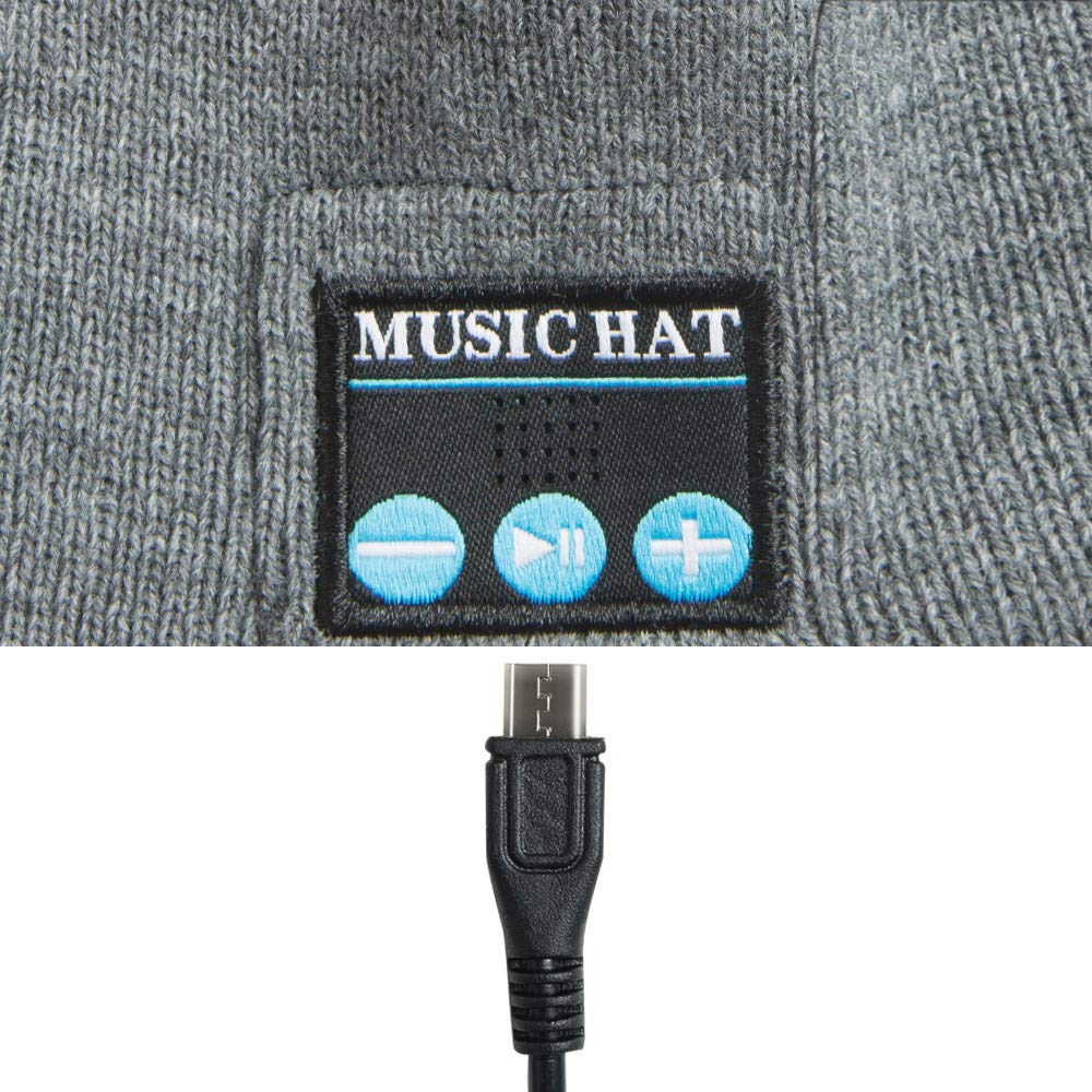 Red Ta Fashion Unisex Autumn Winter Bluetooth Wireless Warm Beanie Hat Handsfree Music Cap Headphone Headset xmas by Red Ta (Image #2)
