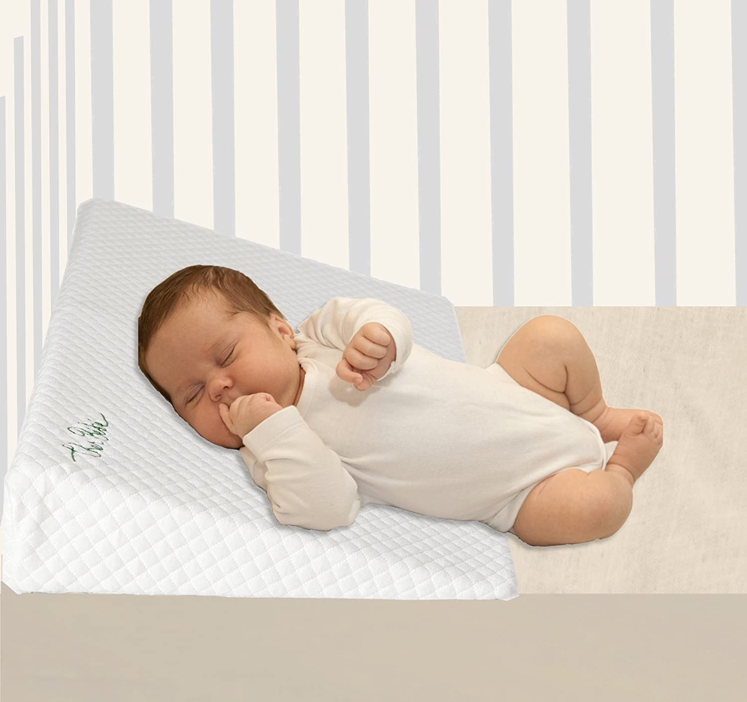 Baby Sleep Positioner for Over or Under The Mattress Cotton /& Waterproof Covers Cher B/Ã/ƒ/Â/©b/Ã/ƒ/Â/© Cher B/Ã/ƒb/Ã/ƒ Crib Wedge for Reflux /& Colic Newborns Slee High Incline and Foldable