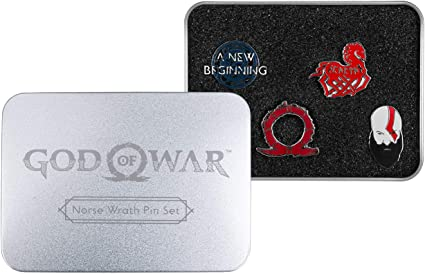 Official GOD OF WAR Norse Wrath Pin Button Badge Collectors Set Gaming Gift