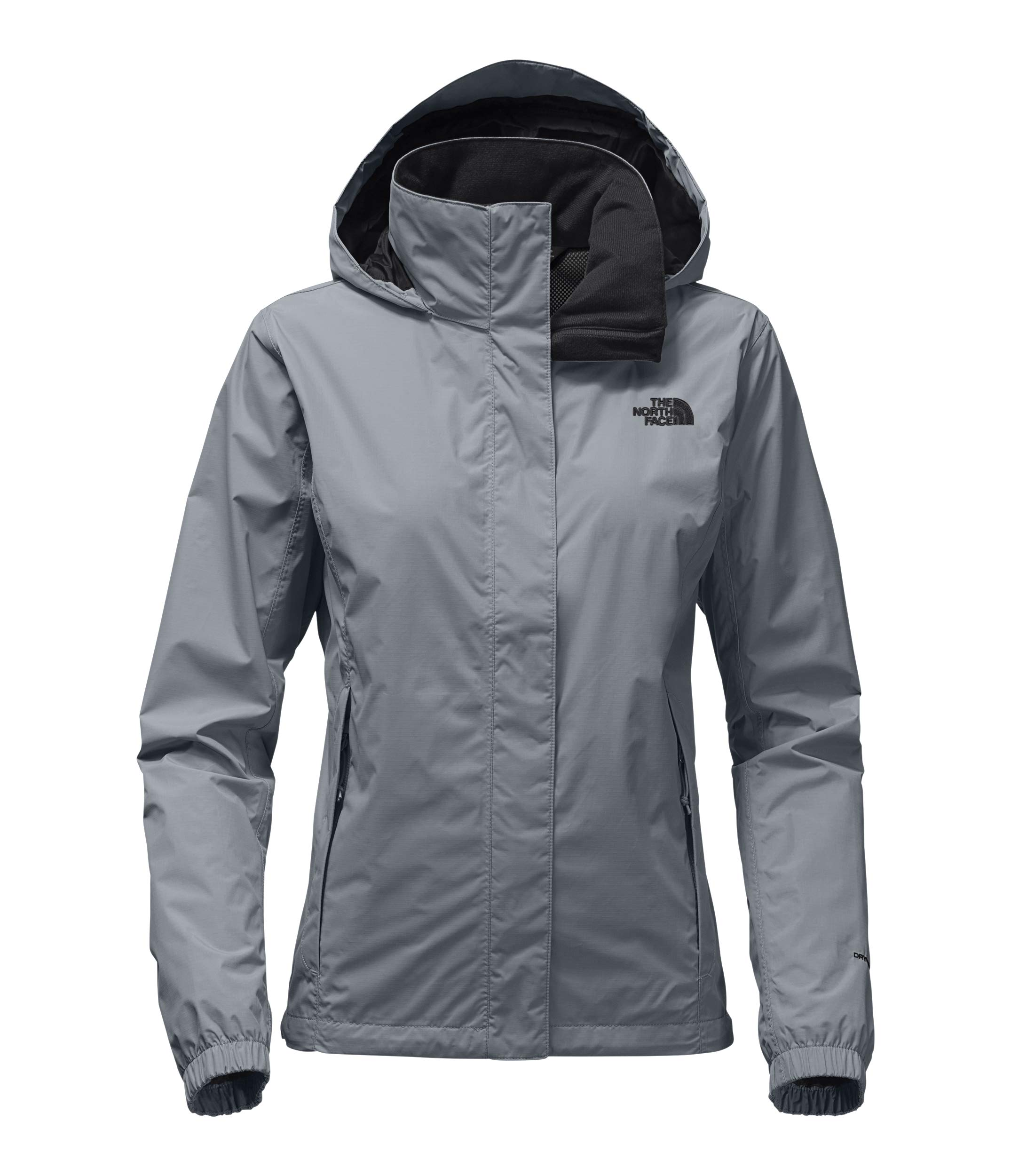 The North Face Women Resolve 2 Jacket - Mid Grey & TNF Black - XXL