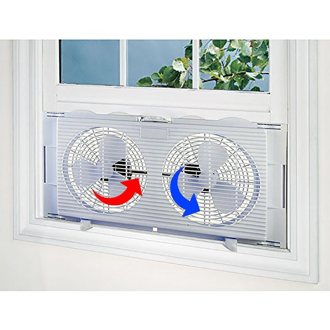 LavoHome #1 High Velocity 2-in-1 Double Window Energy Efficient Fan Horizontal Vertical Fit