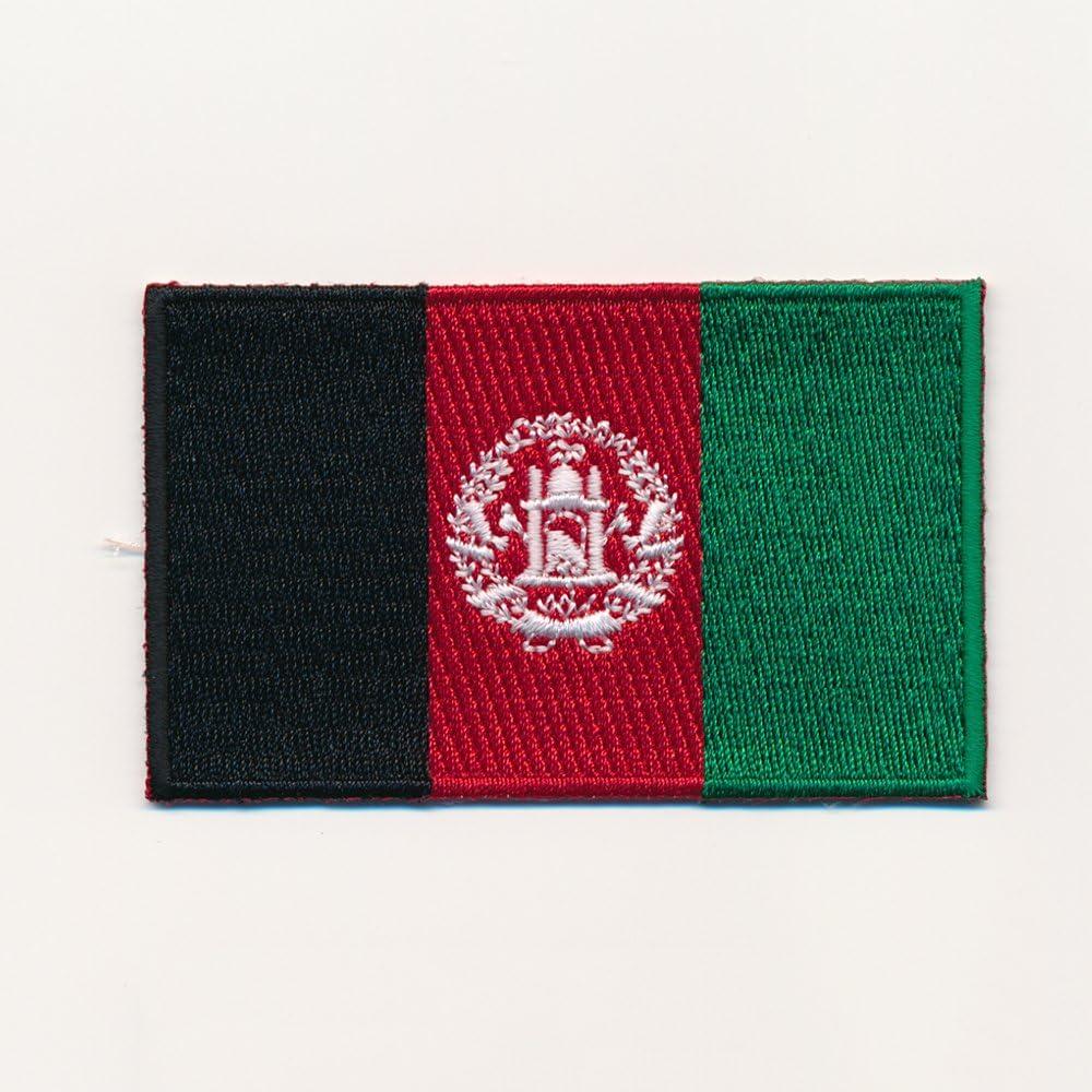 Patch Aufn/äher Aufb/ügler 0935 X 80 x 50 mm Afghanistan Flagge Kabul Flag