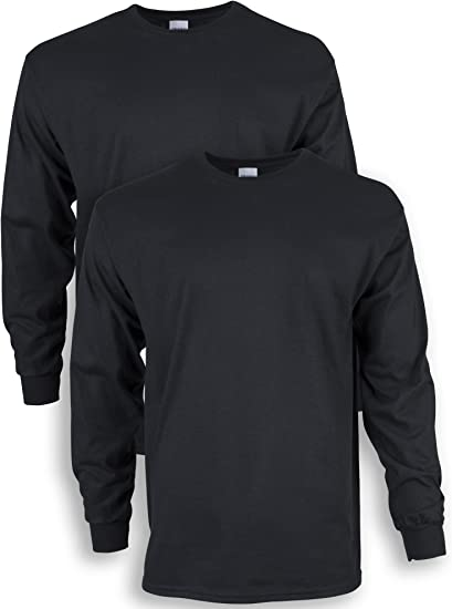 Gildan Men's Ultra Cotton Long Sleeve T-Shirt, Style G2400, 2-Pack   Amazon