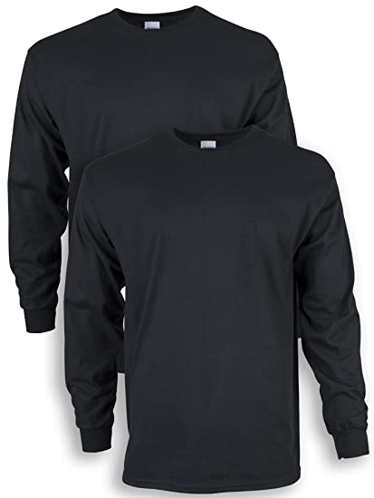 722091338 Gildan Men's Ultra Cotton Adult Long Sleeve T-Shirt, 2-Pack | Amazon.com