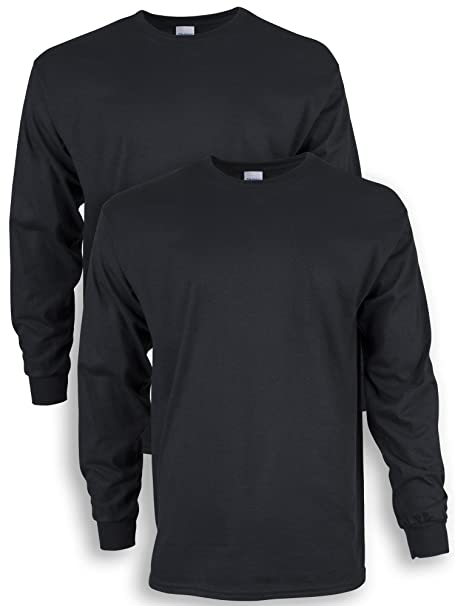 c32a1b92 Gildan Men's Ultra Cotton Adult Long Sleeve T-Shirt, 2-Pack | Amazon.com