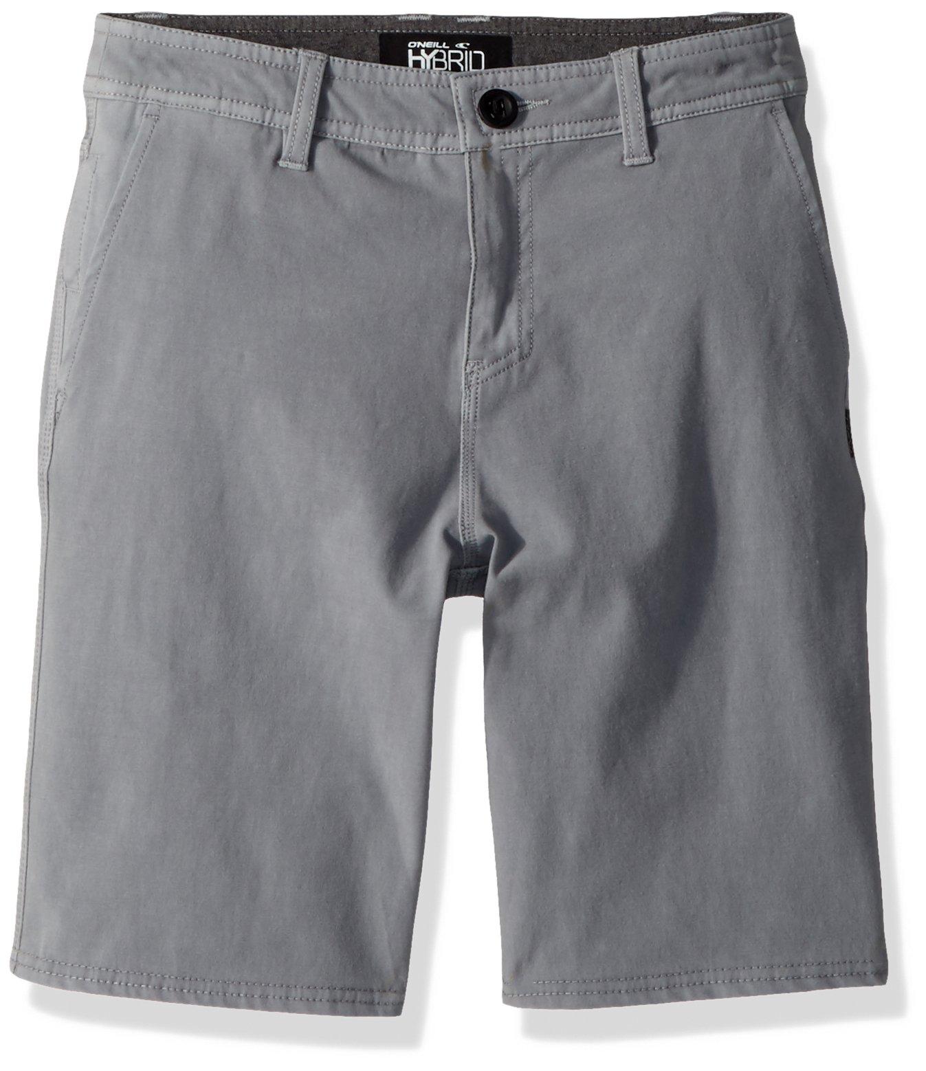 O'Neill Big Boys' Venture Overdye Short Boardshort, Light Grey, 26