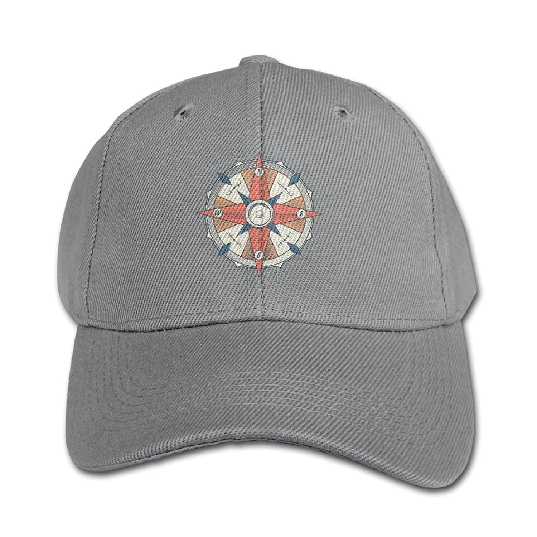 Huajsu Vintage Colourful Graphic Compass Kid's Print 100% Cotton Flat Hat Baseball Cap Hip-Hop Peaked Cap Adjustable Cap Hat For Boy &Girl Navy free shipping