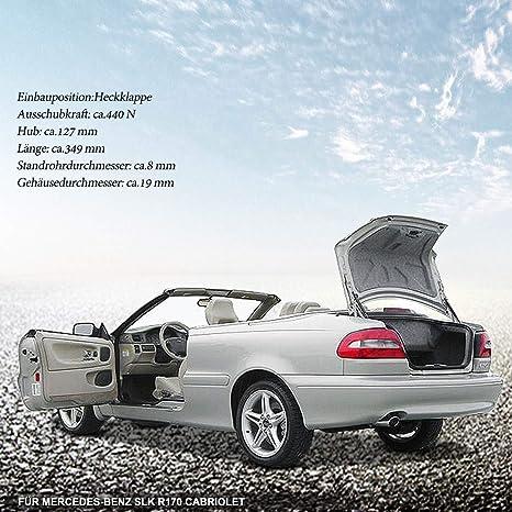 2 X Gas Spring Damper Tailgate For Slk R170 200 230 320 32 Amg Cabriolet 1996 2004 1707500036 Auto