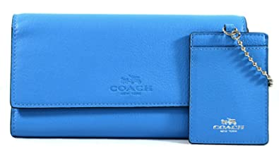best service 88eaa df7e5 Coach Trifold Wallet with Chain ID Card Case