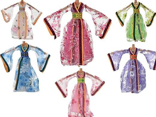 coscosx 6 Barbie vestidos ropa fiesta boda disfraz para 11
