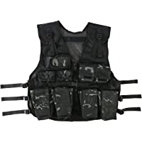 Kombat UK BTP - Chaleco de asalto para niños, talla única, color negro