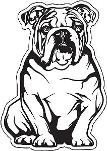 Diecut English Bulldog Decal - Dog Bumper Sticker - Perfect for Laptops Tumblers Windows Cars Trucks Walls