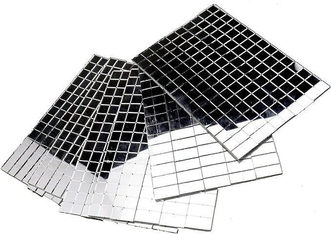 Craft Art supplies 2 count Focal Mirror Glass Mosaic Tiles 3 inch ROUND