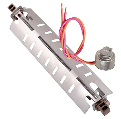 GE WR50X10068 Thermostat Kit and WR51X10055 Refrigerator Defrost Heater Compatible Replacement