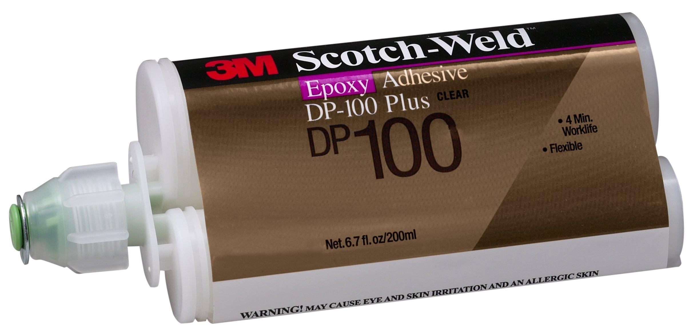 3M Scotch-Weld 87266 Epoxy Adhesive DP100 Plus, 200 mL, Clear, 6.763 fl. oz.