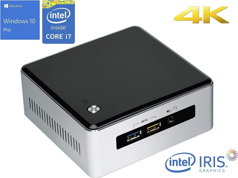 Intel NUC5i7RYH Mini PC, Intel Core i7-5557U Upto 3.40GHz, 16GB RAM, 256GB SSD, Intel Iris Graphics 6100, Mini HDMI, Mini DisplayPort, Wi-Fi, Bluetooth, Windows 10 Pro