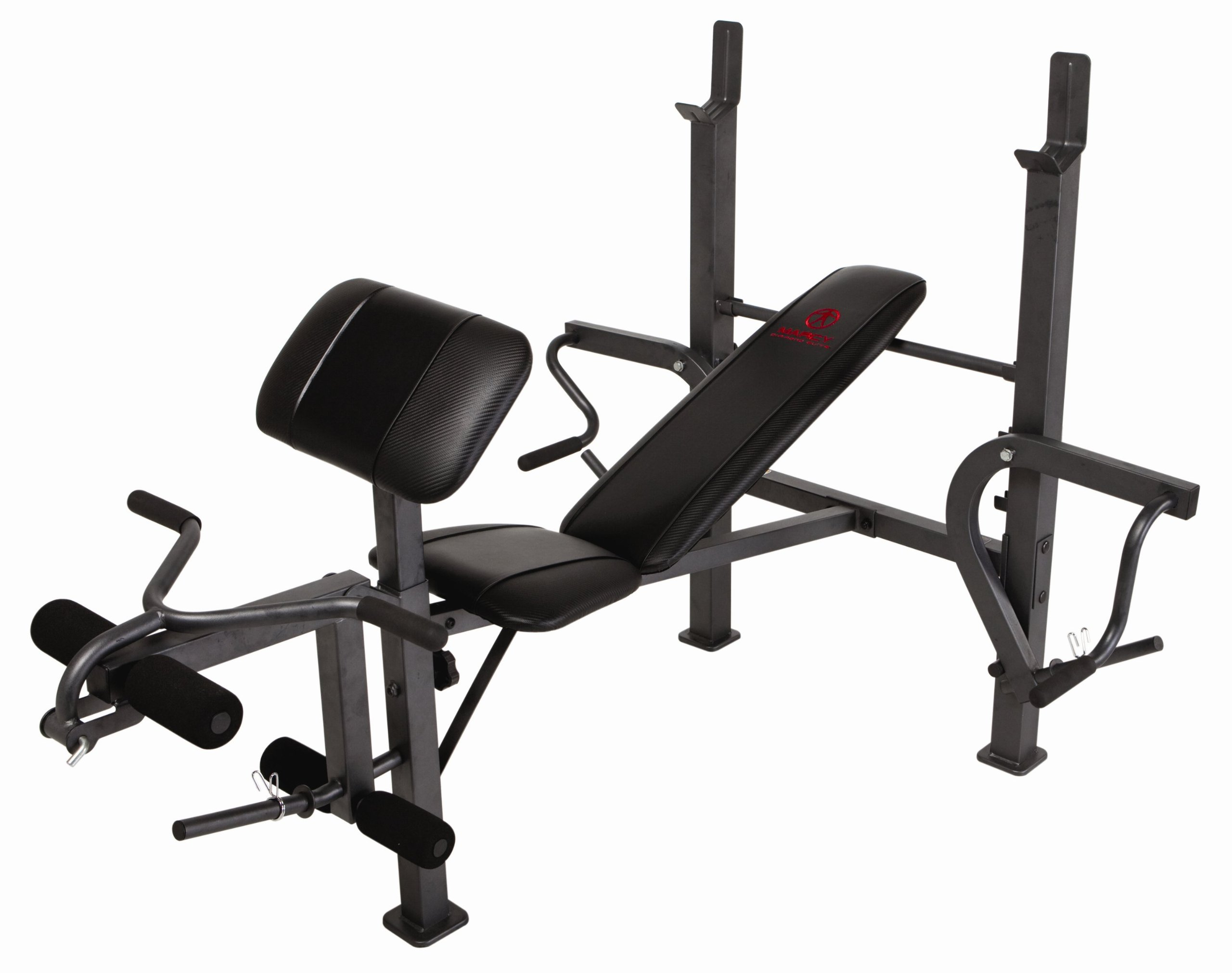 Marcy Standard Weight Bench with Butterfly and Leg Developer Multifunctional Workout Station for Home Gym MD-389