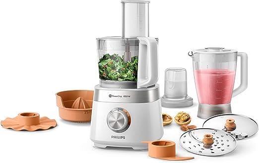 Philips Cocina Viva Collection Philips Robot de cocina HR7530/00, multifunción con licuadora, picadora y exprimidor, 850 W, capacidad 2,1 L, acero inoxidable, inoxidable: Amazon.es: Hogar