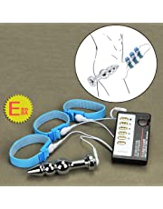 Stimulation Accessories Electro Conductive Rings Metal Plug with Cable Electric Stimulator Massager for Adult Couples, Kits E