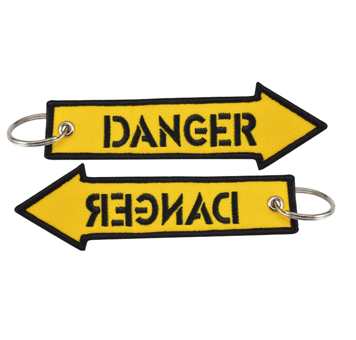 Amazon.com: danger keychain set of 2 key chain car jdm ...