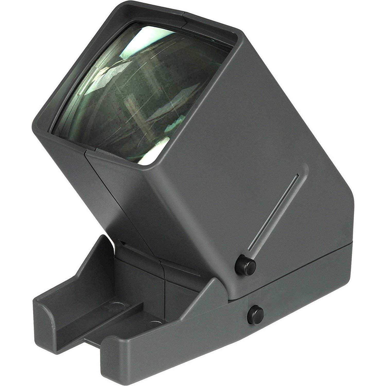 35mm Film and Slide Viewer, Desk Top Portable LED Negative and Slide Viewer, 3X Magnification, LED Lighted Viewing, for 35mm Slides & Film Negatives (Battery Not Included) by CozyKit