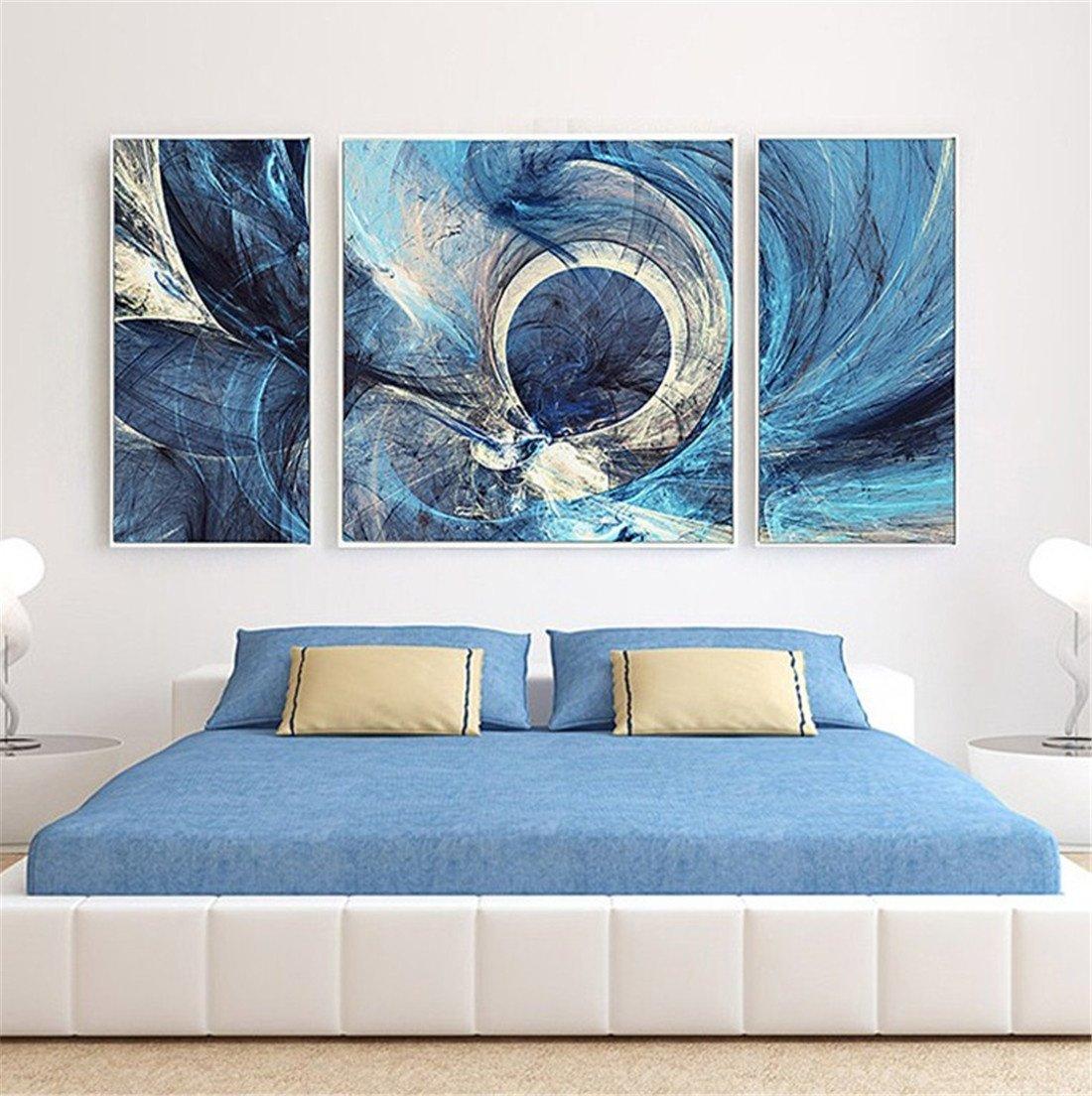 YIZHANGnórdico Abstracto Pintura Decorativa Sala de Estar Triple Pintura Moderna Simple atmosférico murales sofá Fondo Pared Pintura al óleo