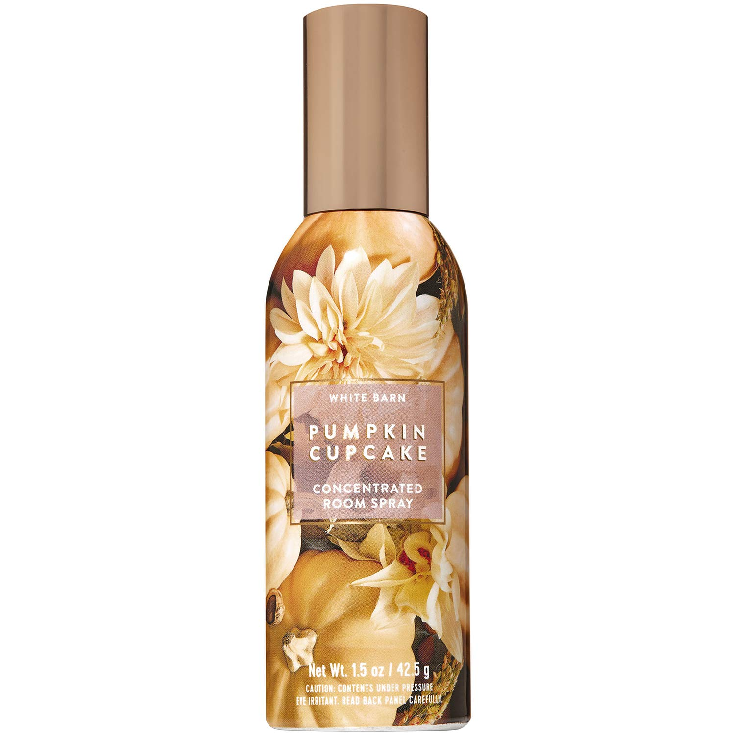 Bath and Body Works Pumpkin Cupcake Concentrated Room Spray 1.5 Ounce (2019 Edition, White Barn Label)