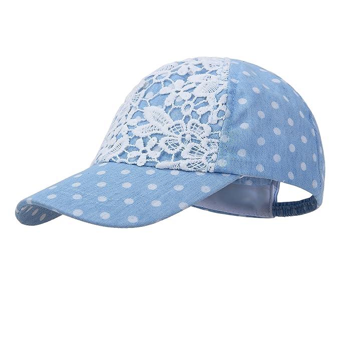 Baby Girl Sun Hats Toddler Girl Summer Baseball Cap Gray and Blue (50cm(Head e820312afff
