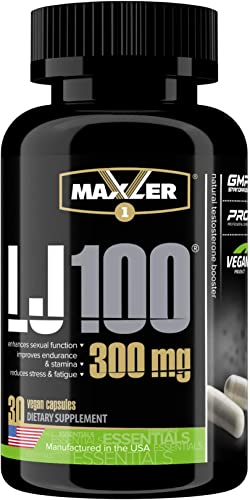 Maxler LJ100 Vegan Testosterone Booster for Men – Natural Metabolism Booster for Muscle Growth – Increases Stamina, Endurance, Recovery – 30 Vegan Capsules for Mens Health