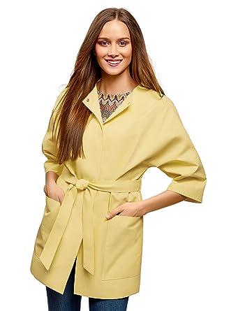 online retailer 0526d 6786e oodji Collection Damen Trenchcoat mit Knöpfen und 3/4 Arm ...