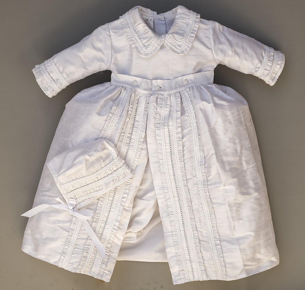 Heirloom Baby Boy's Christening Baptism Gown, Hand Made White Burbvus Ropones by Burbvus (Image #4)