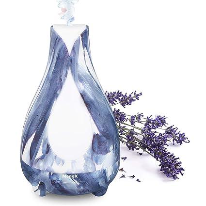 Difusor de Aceites Esenciales, MengK 200ml Humidificador Ultrasónico Aromaterapia Difusor de Aroma, 7 Color LED Perfecto para Hogar, Oficina, Bebé, ...