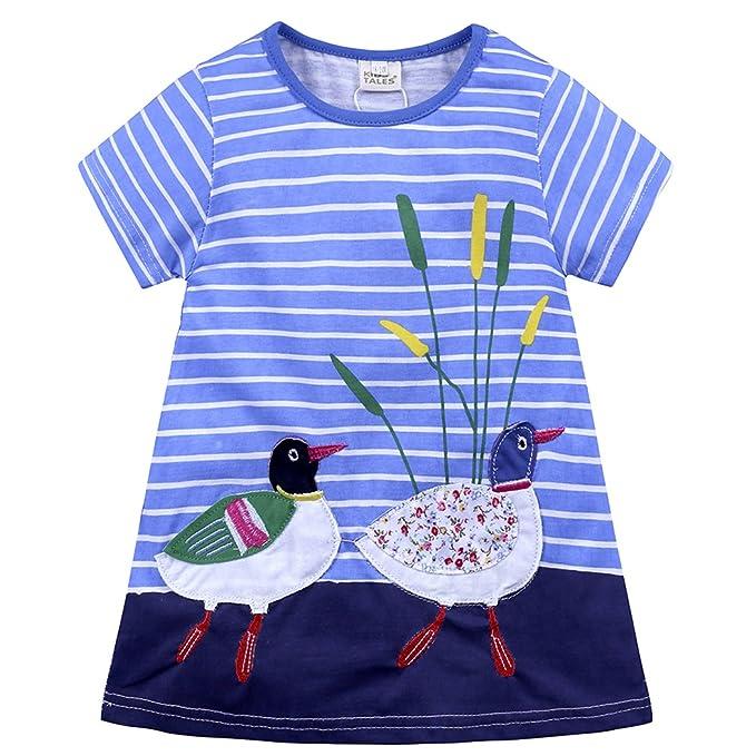 Anywow Anywow Adorable Kleinkind Mädchen Cartoon Kleider Kinder ...