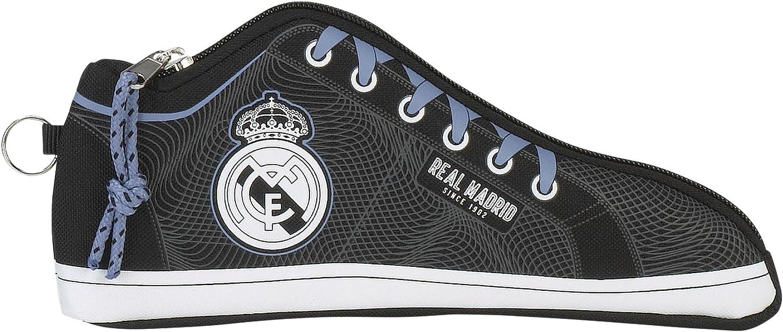 Real Madrid ST811757584 Estuche portatodo Zapatilla (SAFTA 811757584), Unisex niños, Fucsia/Azul Turquesa, 24 cm: Amazon.es: Juguetes y juegos