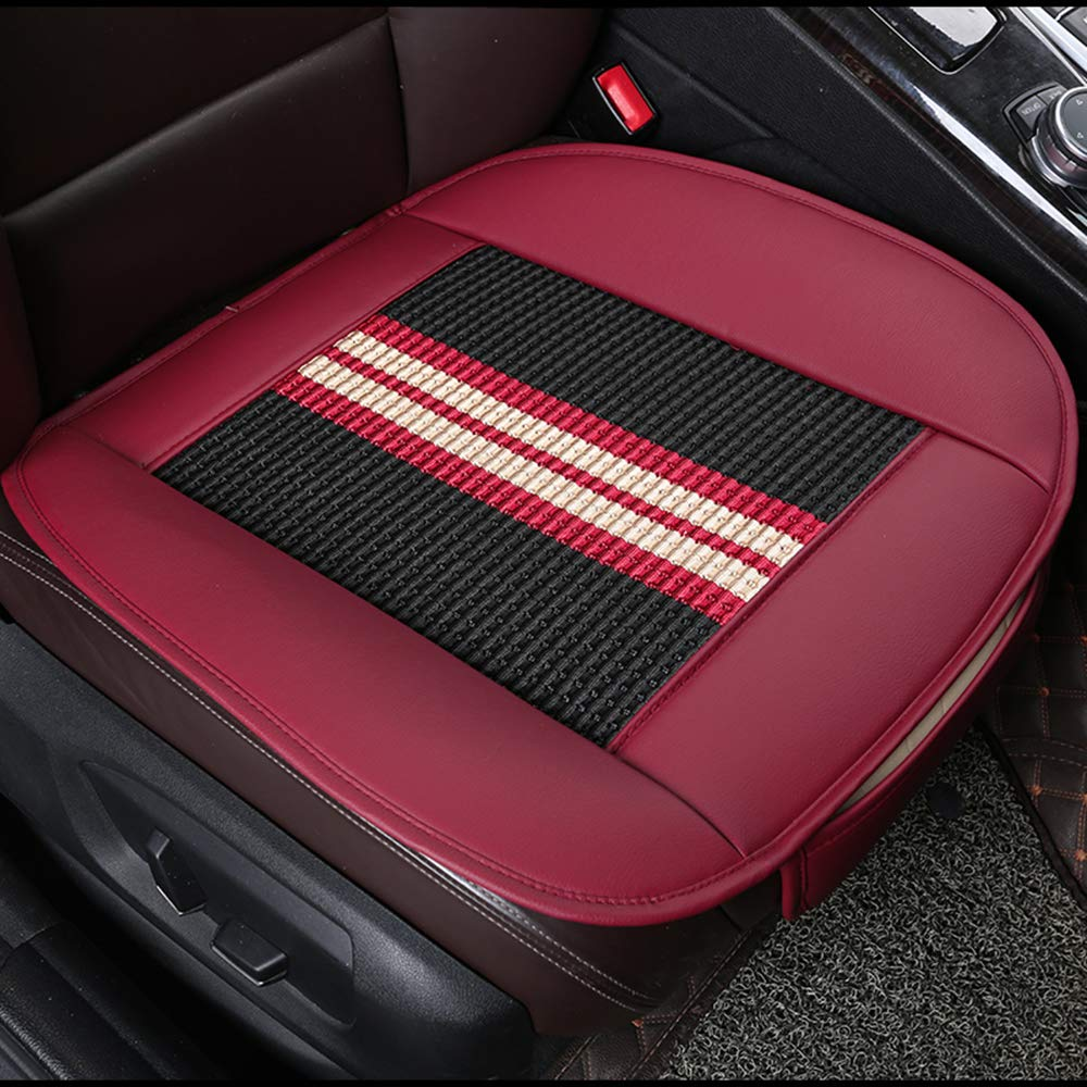 Edge Wrapping Front Seat Cushion Protection Pad Carbonized Leather Ventilated Breathable Comfortable U/&M Car Interior Seat Cover Anti-Skid Four Seasons Universal Fit