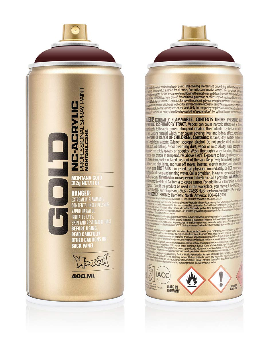 Montana Cans 283802 Spray Dose Gold 400ml, Gld400-cl8320-Chestnut