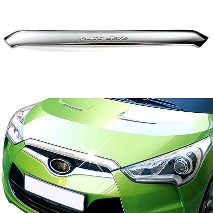 Amazon.com: Chrome Front Hood Garnish Bonnet Molding Trim Cover for Hyundai Veloster 2012 2013 2014 2015 2016 2017: Automotive