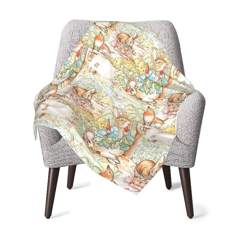 The World of Beatrix Potter Large Vintage Illustration Baby Blanket Super Soft Printed Blanket Receiving Blanket for Boys Girls, Stroller, Crib, Newborns, Receiving