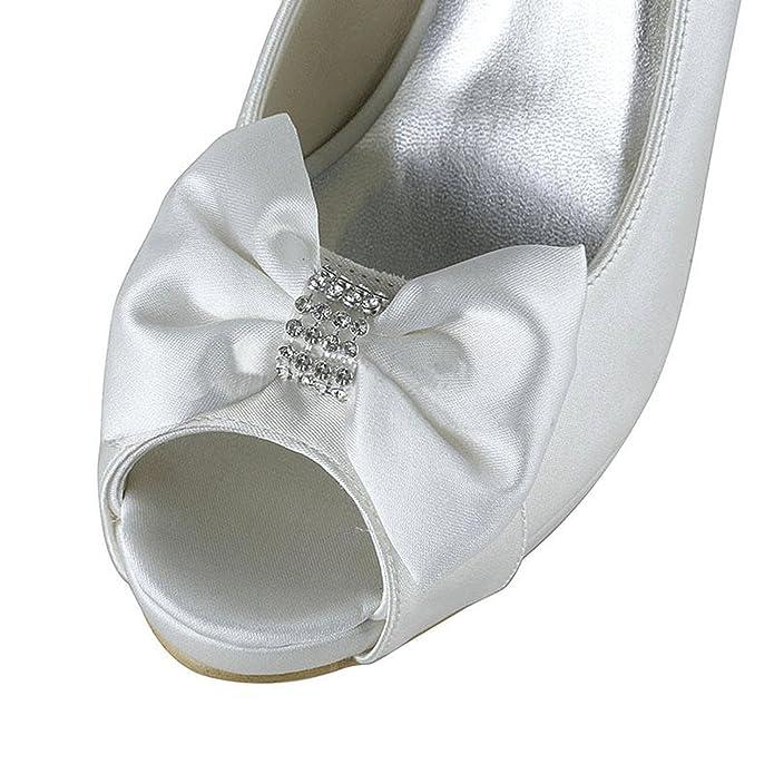 Amazon.com: Minishion - Sandalias de satén para mujer, para ...