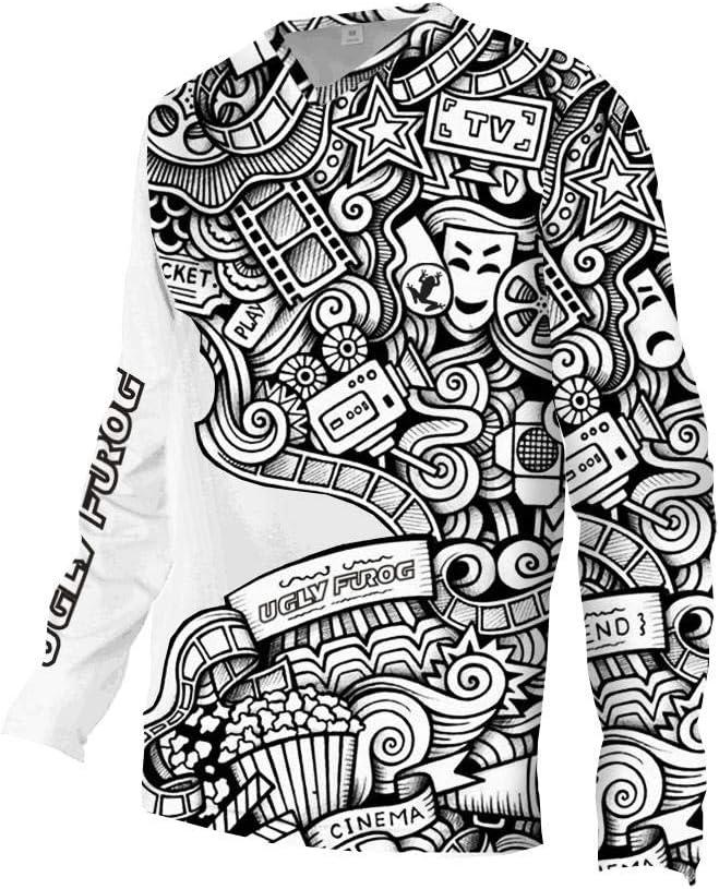 Uglyfrog Element Newest Besonderes Cooles Design MTB MX Motocross Kurz//Langarm Jersey Trikot Shirt Enduro Offroad Motorrad Cross Erwachsene Promi-Gitter Malerei Junger Stil DEHerDownMK06
