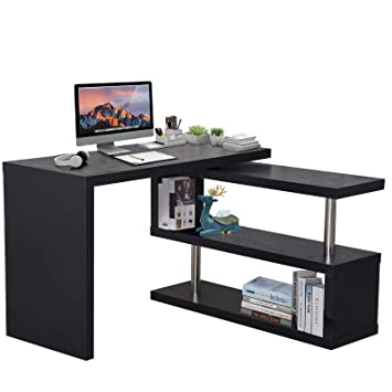 HOMCOM Computer PC Desk Storage Display Shelf Shelving Wooden