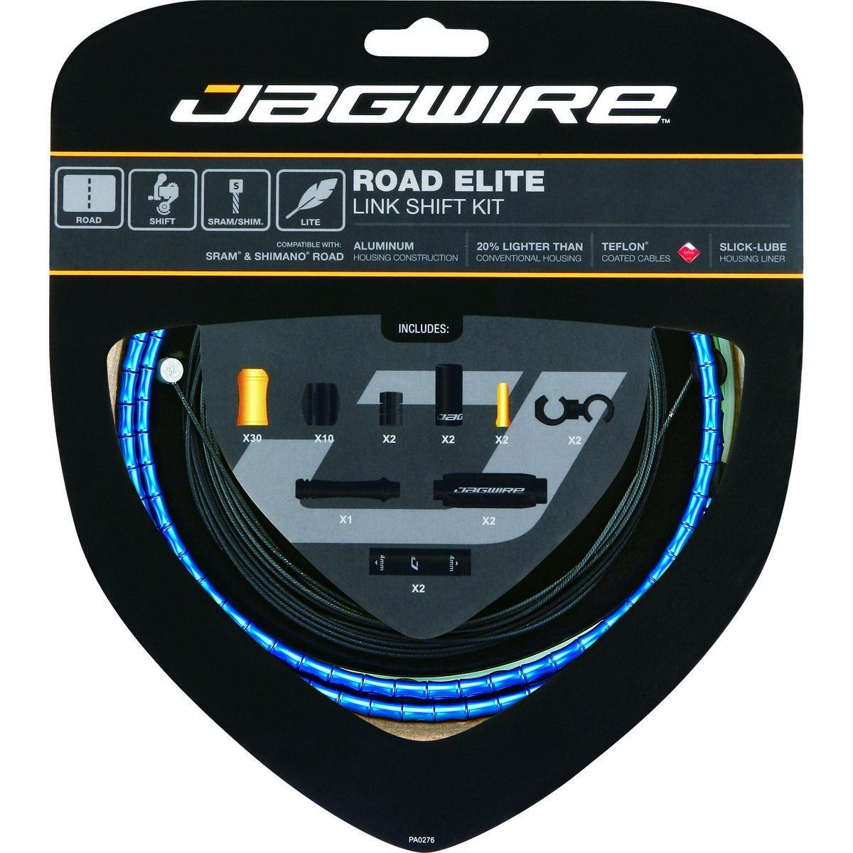 Jagwire Road Elite Link Shift Cable Kit Blue