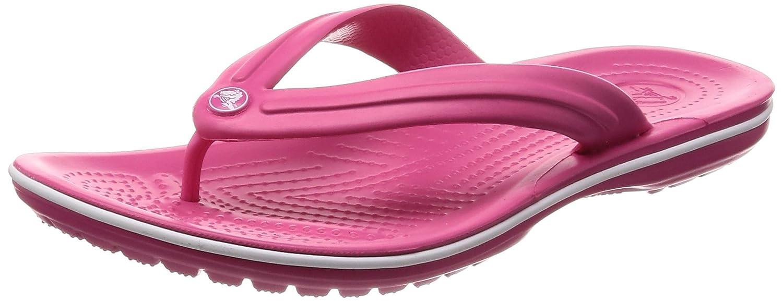 crocs Unisex-Erwachsene Crocband Flip Zehentrenner  41/42 EU|Pink (Paradise Pink/White)